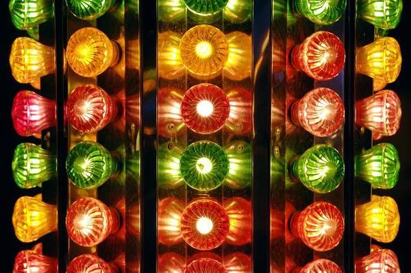 Fair Ground Photograph - Funfair Lights by Johnny Greig