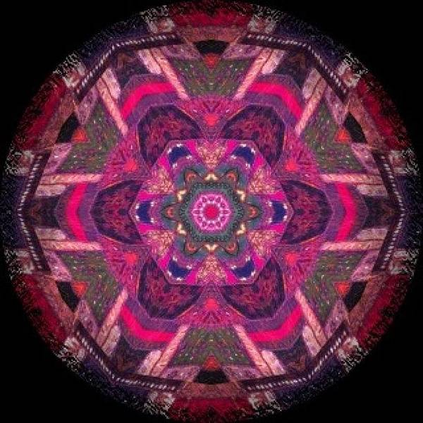 Fractal Wall Art - Photograph - Funky #meditating #mandala Pattern On by Pixie Copley