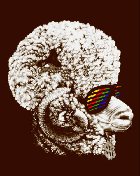 Funky Sheep Art Print by Bojan Bundalo