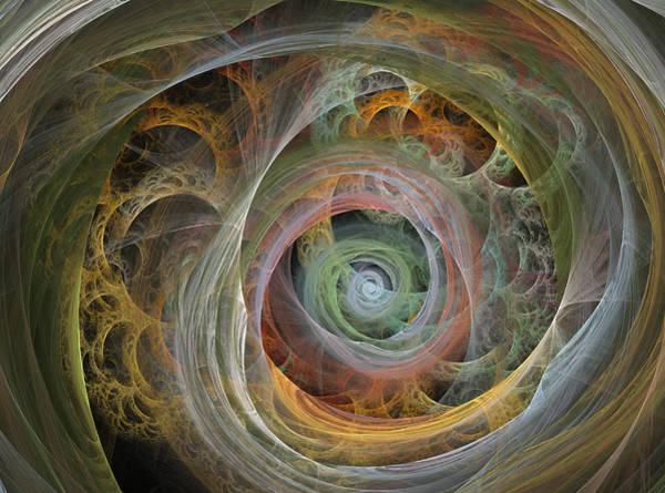 Twisted Digital Art - Funnel by Betsy Knapp