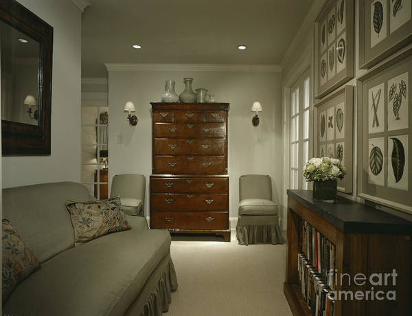 Chest Of Drawers Photograph - Furniture In Upscale Home by Robert Pisano