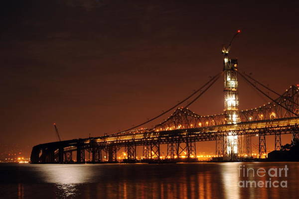 Wall Art - Photograph - Future New Bay Bridge At Night by Catherine Lau