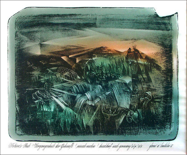 Drawing - Future's Past 1982 by Glenn Bautista
