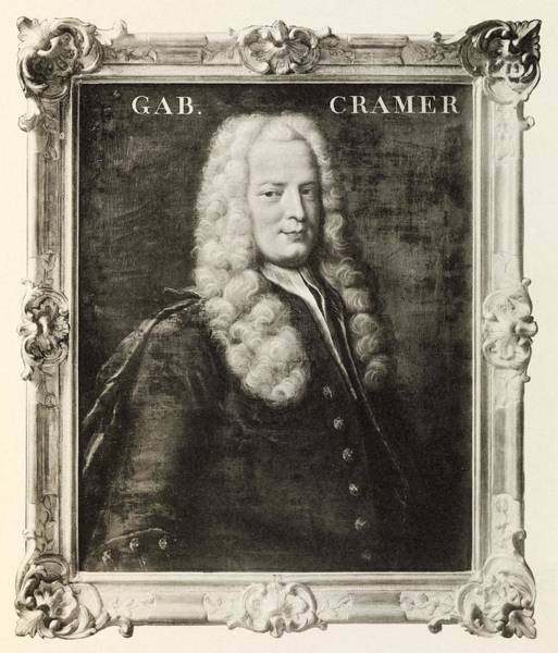 Paradox Photograph - Gabriel Cramer, Swiss Mathematician by Middle Temple Library