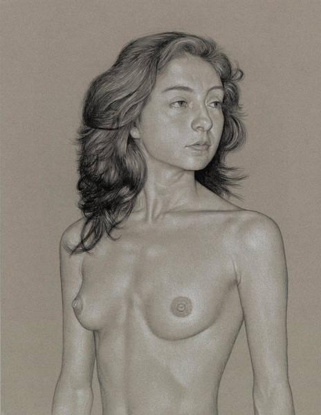 Drawing - Gabriela 1 by David Kleinsasser