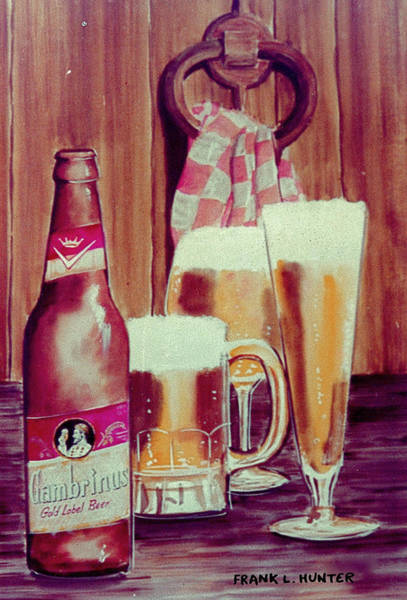 Painting - Gambrinus Beer by Frank Hunter