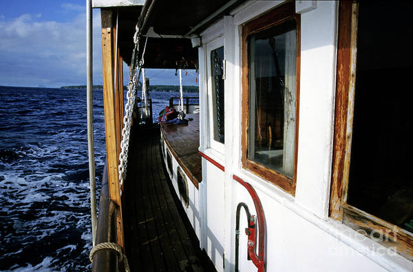 Wall Art - Photograph - Gangway Of A Cruising Sailboat by Sami Sarkis