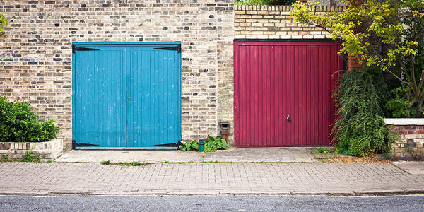 Privacy Photograph - Garage Doors by Tom Gowanlock