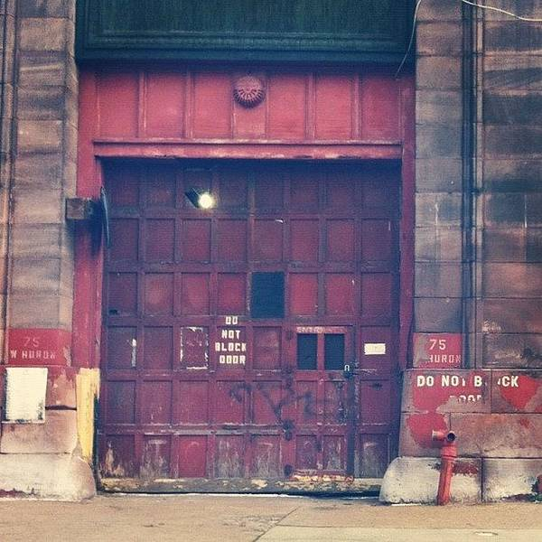 Wall Art - Photograph - #garage #red #door #graffiti #art by Jenna Luehrsen