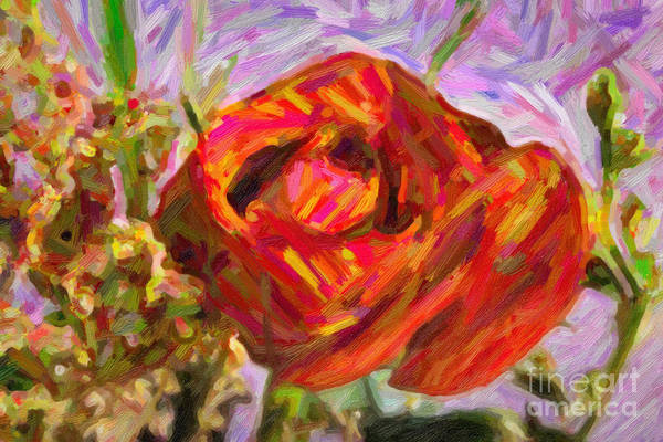 Painting - Garden Delight Red Rose by M K Miller