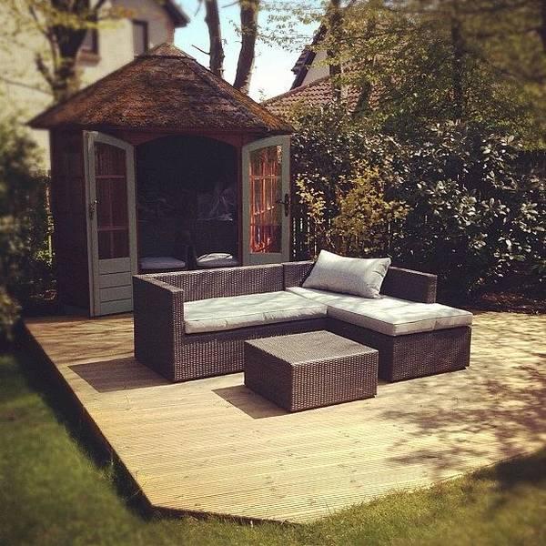 Grace Wall Art - Photograph - #garden #hideout #sofa #furniture by Grace Shine