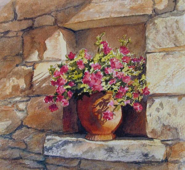 Southern France Painting - Garden Niche by Vikki Bouffard