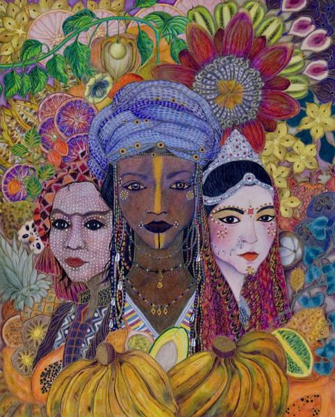Painting - Garden Of Eden - No More Hunger by Ellie Perla