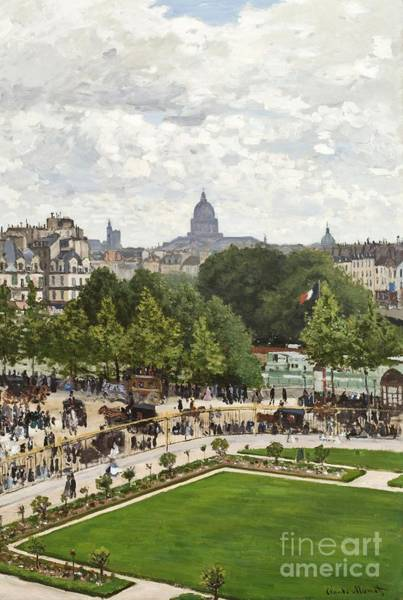 Pantheon Wall Art - Painting - Garden Of The Princess by Claude Monet