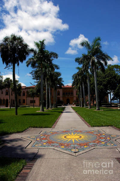 Photograph - Garden Path To The Ringling Mansion In Sarasota Fl by Susanne Van Hulst