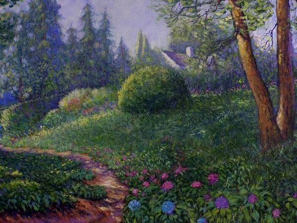 Tacoma Painting - Garden Trail by Charles Munn