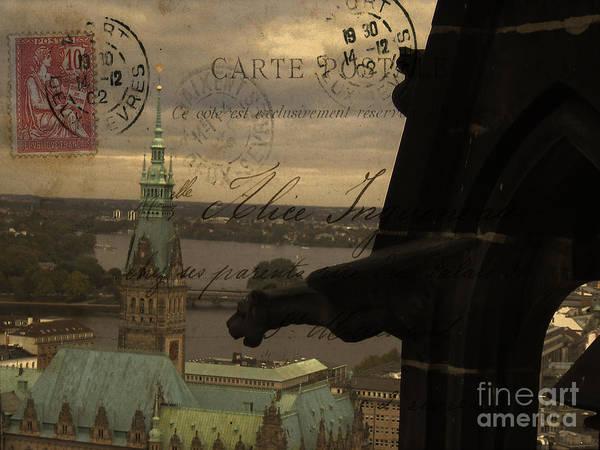 Wall Art - Photograph - Gargoyle Over Hamburg  by Lee Dos Santos