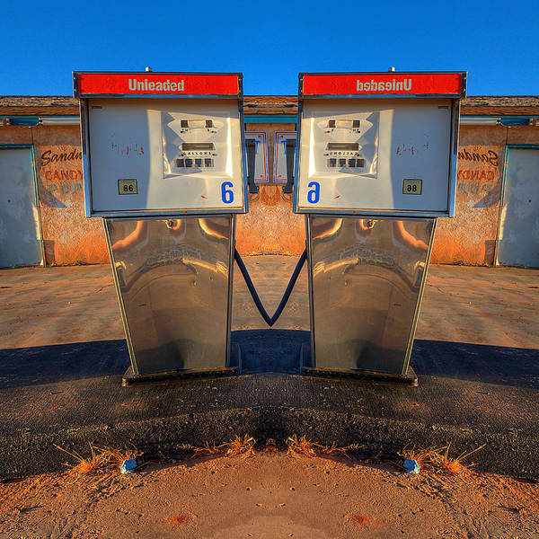 Wall Art - Photograph - Gas Pump Sweethearts by Peter Tellone