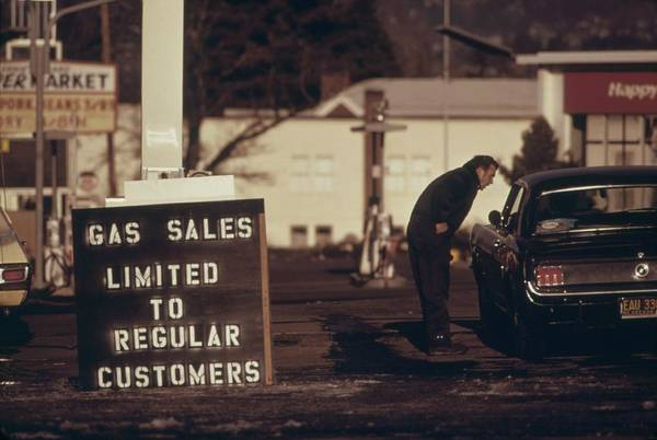 Energy Crisis Photograph - Gas Sales Limited To Regular Customers by Everett