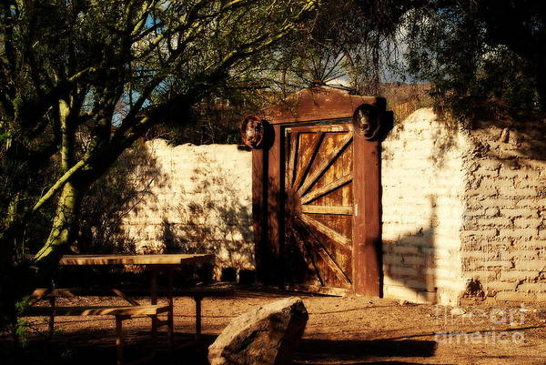 Wall Art - Photograph - Gate To Cowboy Heaven In Old Tuscon Az by Susanne Van Hulst