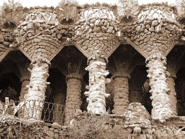 Photograph - Gaudi Columns by Donna Corless