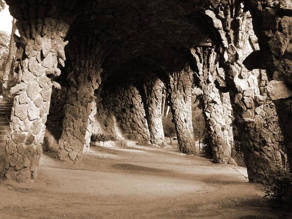 Photograph - Gaudi Walkway by Donna Corless