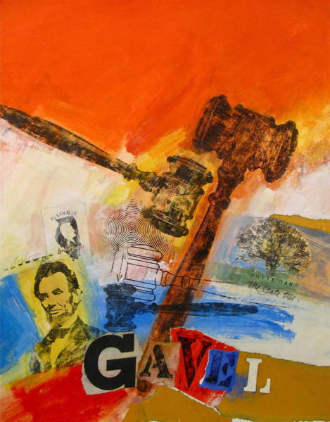 Painting - Gavel by Cliff Spohn