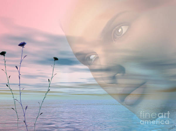 Aira Wall Art - Digital Art - Gaze by Tea Aira