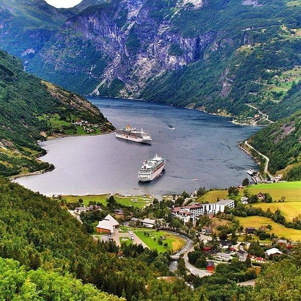 Travel Photograph - Geiranger Fjord by Luisa Azzolini