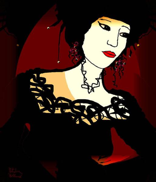 Geisha Mixed Media - Geisha 1 by Natalie Holland