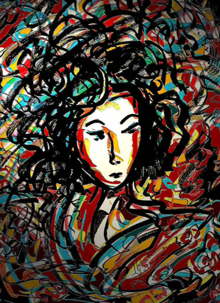 Geisha Mixed Media - Geisha 7 by Natalie Holland