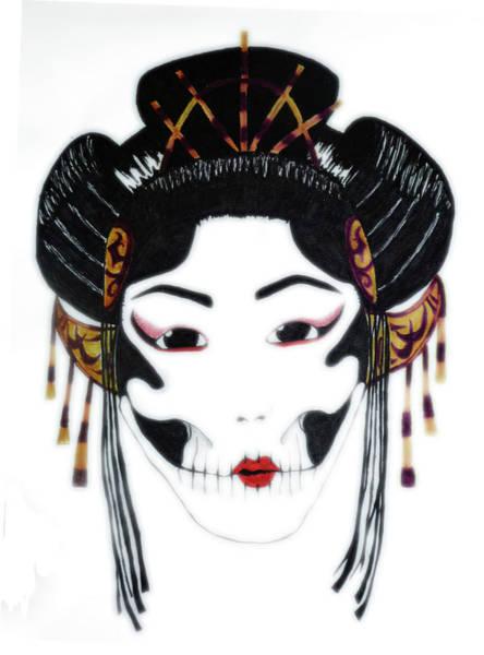 Geisha Mixed Media - Geisha by Manik Designs