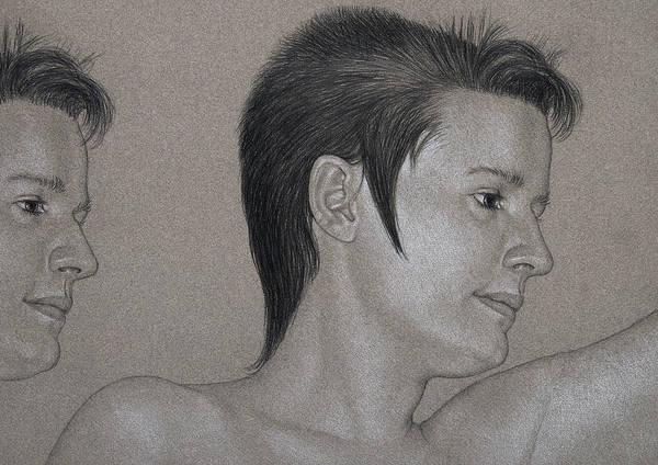 Drawing - Gemini Portrait by David Kleinsasser