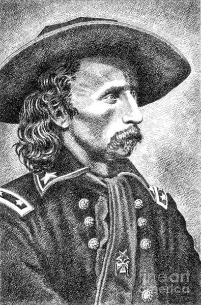 Drawing - General Custer by Gordon Punt
