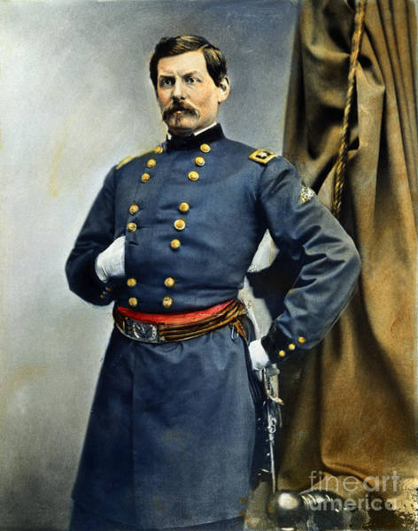 Brinton Photograph - General George Mcclellan by Granger