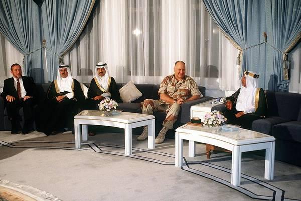Bahrain Photograph - General Norman Schwarzkopf Visits by Everett