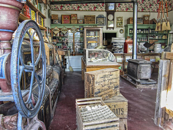 Wall Art - Photograph - General Store 2 - Virginia City Ghost Town - Montana by Daniel Hagerman