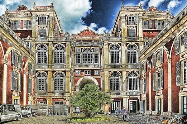 Mixed Media - Genova Palazzo Reale - Royal Palace Of Palazzo Dei Rolli by Enrico Pelos