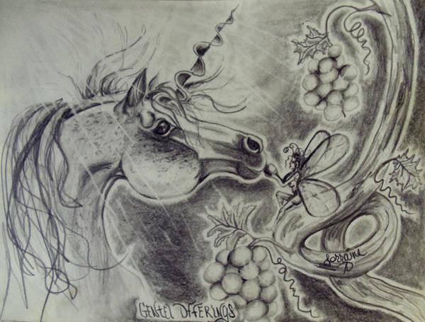 Wall Art - Drawing - Gentle Offerings by Lorraine Davis Martin