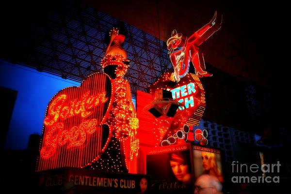 Photograph - Gentlemen Club Down Town Las Vegas by Susanne Van Hulst