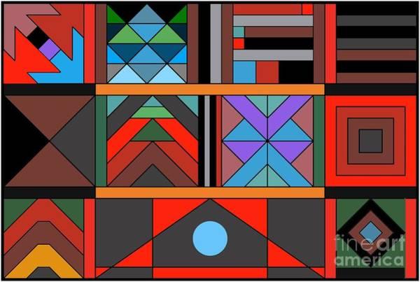 Interaction Painting - Geometric 2 by Vilas Malankar