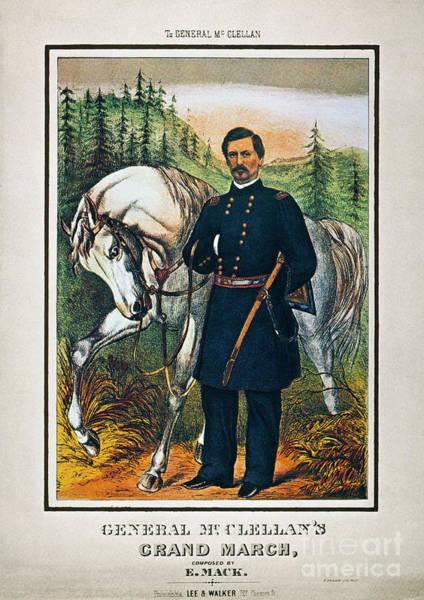 Brinton Photograph - George B. Mcclellan, 1864 by Granger