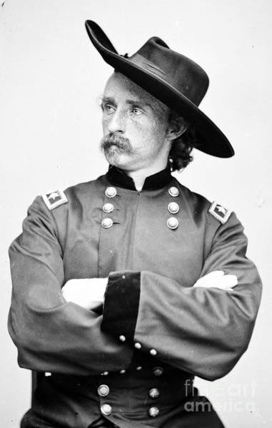 First Officer Photograph - George Custer, American Calvary Officer by Photo Researchers