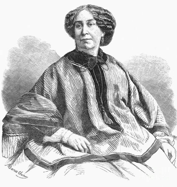 Aurore Photograph - George Sand, French Author And Feminist by Photo Researchers