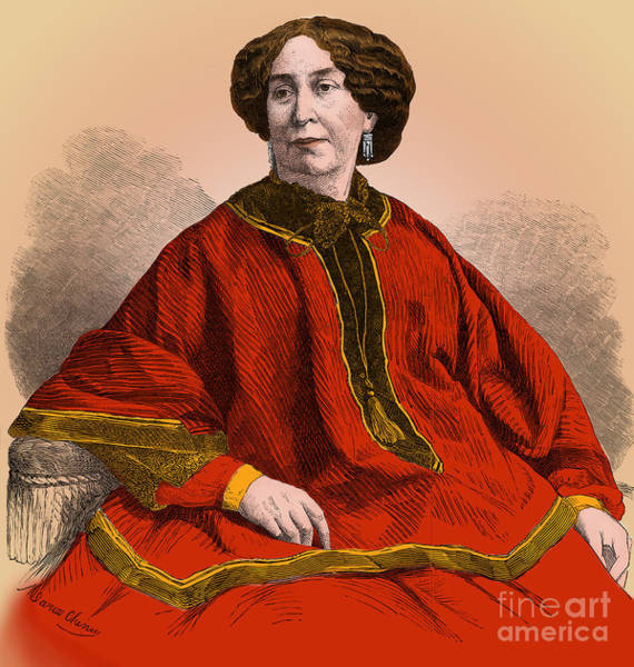 Aurore Photograph - George Sand, French Author And Feminist by Science Source