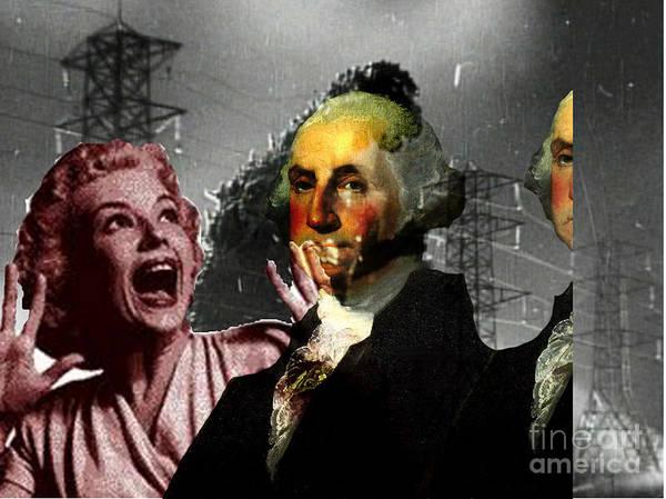 Famous People Digital Art - George Washingto by Chandler  Douglas
