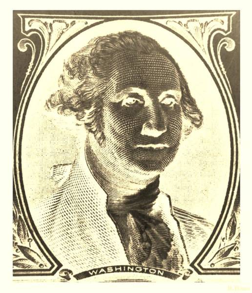 Photograph - George Washington In Negative Sepia by Rob Hans