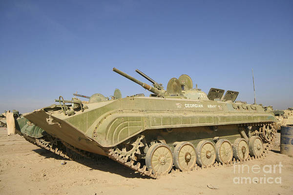 Photograph - Georgian Army Light Tank by Terry Moore