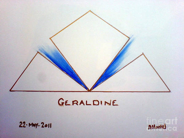 Painting - Geraldine by Ahonu
