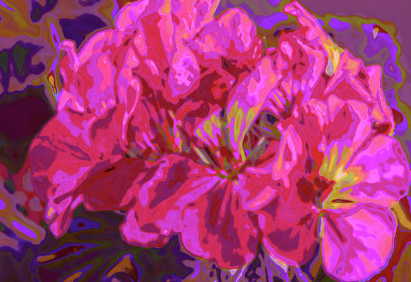 Digital Art - Geranium Pop by Charles Muhle